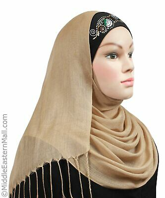 Cotton Tube Hijabs Cap with Embroidery Underscarf headband bandana chemo Hat USA