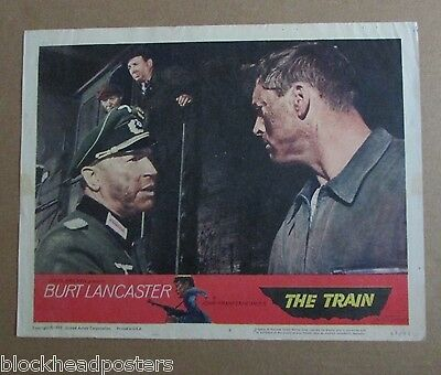The Train~11X14 Original~Lobby Card #6~1965~Burt Lancaster & Paul Scofield~War