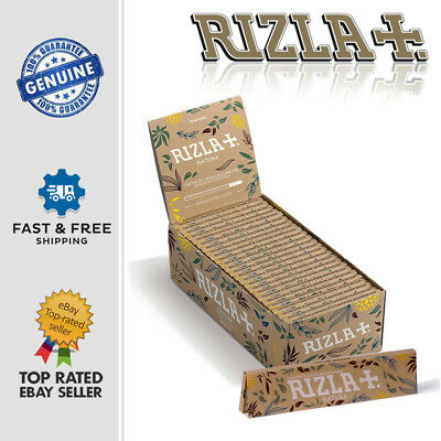 RIZLA NATURA KING SIZE ORGANIC HEMP Slim Natural Rolling Paper Unbleached Sheets