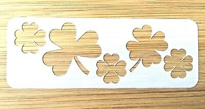 Face paint stencil reusable washable clover 190 mic Mylar glitter henna tattoo
