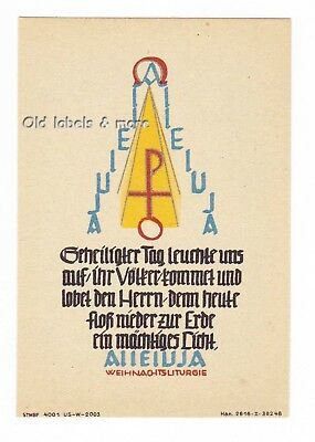 ANDACHTSKÄRTCHEN ~1950 'ALLE LUJA Geheiligter Tag …' no label x2470