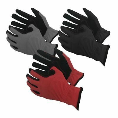 Task Gloves 3-Pack Mechanical Task Premium Synthetic Leather Black/Grey/Red Wo