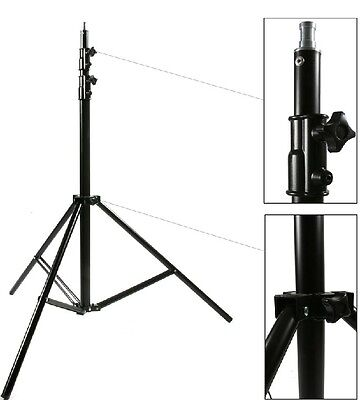 300Cm 10Ft Spring Cushioned Light 3 Section Studio Large Stand Heavy Duty Lights