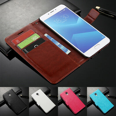 For Meizu M3 M5 M5S M6 Note Magnetic Card Slots Wallet Flip Leather Cover Case
