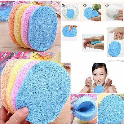 Professional Make Up Remover Facial Cleansing Sponge - Pack of 4