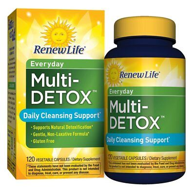 Renew Life Everyday Multi-Detox - 120 Veg Capsules | Daily Cleansing Support