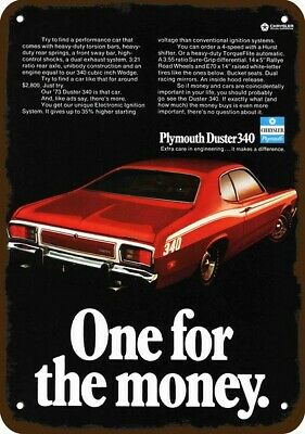 """#490 3/"""" Plymouth Duster REPRODUCTION Retro Vintage Vinyl Decal LAMINATED 1"""