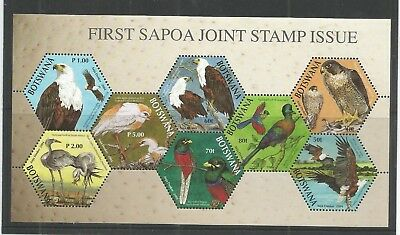 Botswana 2004 First Sapoa Birds Minisheet Sg,ms1027 Un/mm Nh Lot 6345A