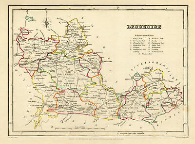 Antique county map of BERKSHIRE by Creighton & Starling for Lewis c1840