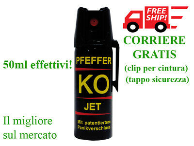 Spray Autodifesa/Difesa Personale/Aggressione/Sicurezza/Emergenza XXL 50 ml jet