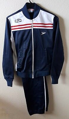 Vintage 1985 Speedo Olympic Sailing Team Track Suit Embroidered Authentic
