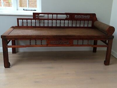 Rare 19th Century Chinese Antique Opium Day Bed