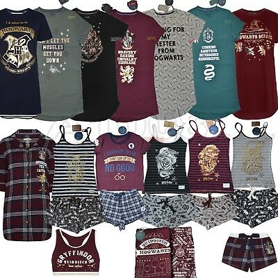 Ladies HARRY POTTER Pyjamas HOGWARTS Cami Vest Womens Shorts PJ Primark S M L XL