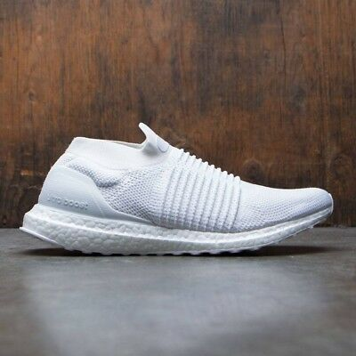 6daad30b3028d ADIDAS ULTRA BOOST Laceless Triple White Size 10. S80768 yeezy nmd ...