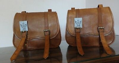 Motorcycle Side Pouch 2 Bags  Brown Leather Side Pouch Saddle bags Panniers New