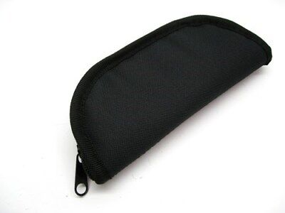 "ZIP UP Black 7"" Inch Travel Storage Padded PROTECTIVE Knife Case Pouch AC118 New"