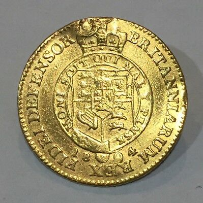 Great Britain 1804 Gold 1/2 Guinea made into a Brooch. George III .1231 AGW