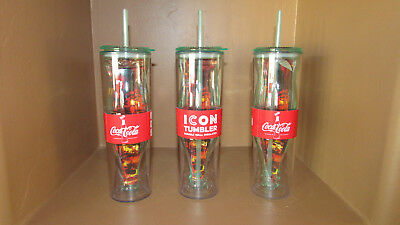 Coca Cola Icon Double-Insulated Tumbler Graphic Can Water Bottle Cup