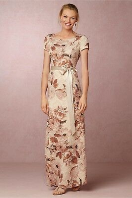 888ff2a46a7 new BHLDN Adrianna Papell Medina Dress floral printed maxi length belted  Pink 10