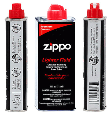 Genuine Zippo 4 oz.118ml Lighter Fluid Fuel