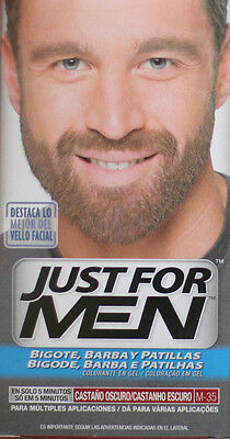 Just for men Barba bigote castaño oscuro M-35 Baffi Capelli Coloranti M35