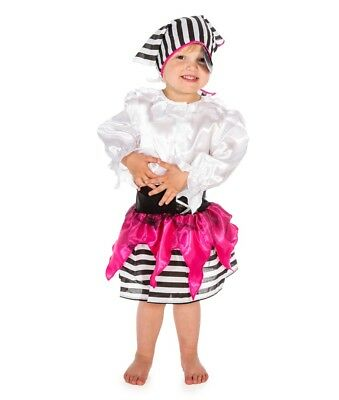 Girls Kids Pirate Fancy Dress Up Costume Halloween Book Week Pink Pirate Party