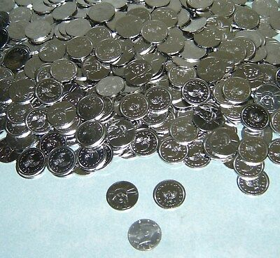 1250 brand new - 1/2 - half dollar size slot machine tokens - 30mm - full case