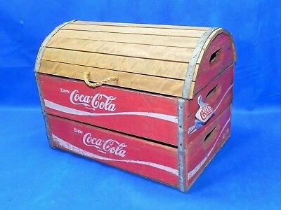 Vintage Wooden Coca Cola Crate Chest Trunk Beautiful Wood Coke Carrier Box