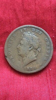King George IV 1826 One Penny
