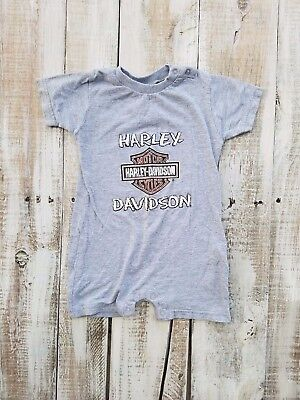 Harley Davidson Size 18 months One Piece Outfit Gray baby rider bike
