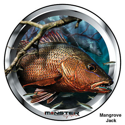 2 X Mangrove Jack - Monster Graphix Stickers (15cm Diameter each)