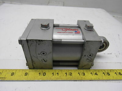 """Milwaukee A62 Pneumatic Air Tie Rod Cylinder 2-1/2"""" Bore 3/4"""" Stroke Rod Clevis"""