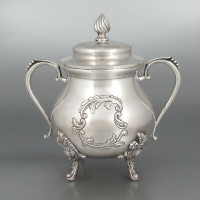 Antique French Silver Plate & Gilded Sugar Bowl, Louis XV style, Signed Numbered