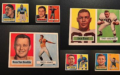1957 Topps Football - Lot of 6 HOF'ers - Price Reduced - $30
