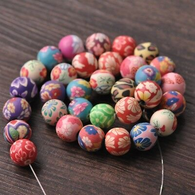 Wholesale 6mm/8mm/10mm/12mm/15mm Polymer Clay Round Loose Craft Beads