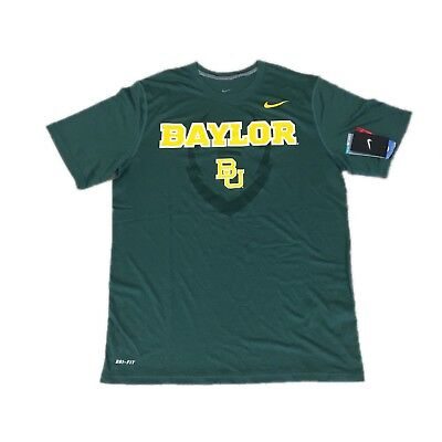 9b6b53ed4766 NEW NWT Baylor Bears Football Nike Men s Icon Legend Dri Fit Shirt Medium