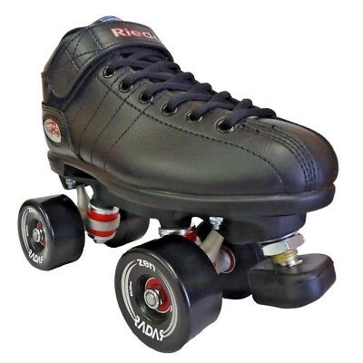 Riedell  - R3 Outdoor Roller Skate package - Black Zen 85a Wheels setup