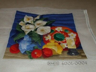 Long Stitch - Flowers - Completed