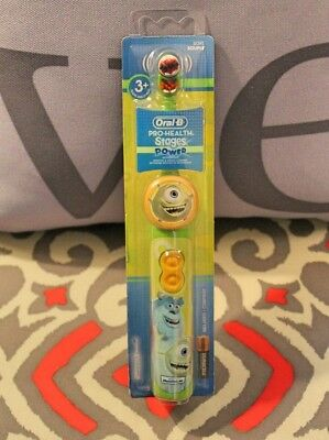 Oral-B Pro-Health Stages MONSTERS INC Power Toothbrush-NEW-Sully-Mike