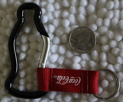 Coca Cola Coke Metal Bottle Clip On & Fabric Keychain Key Ring #24079
