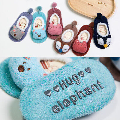 Newborn Baby Kids Toddler Anti Slip Shoes Cartoon Slipper Floor Socks Boots