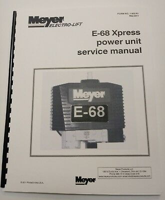 meyer snow plow pump service manual e-68 e-z mount xpress w/ color flow