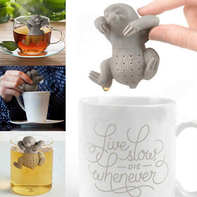 Novelty Sloth Styling Silicone Tea Infuser Reusable Portable Herb Filter