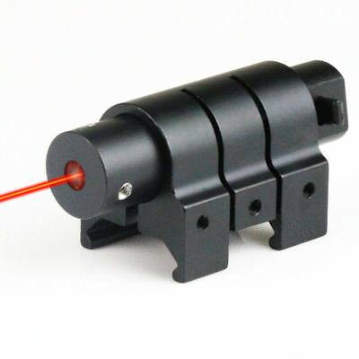Tactical Red Laser Dot Sight for Rifle Pistol Gun w/ Picatinny Rail Mount 20mm