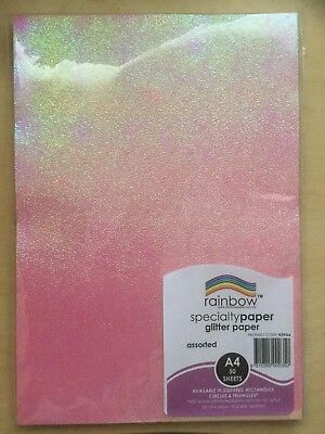 A4 Rainbow Glitter Paper (50 Sheets)