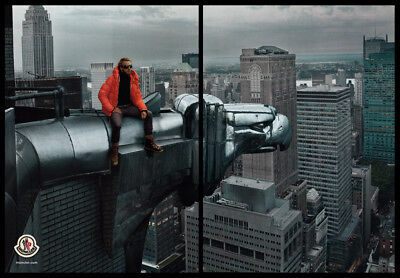 Moncler coats 4-page print ad 2014 on the Chrysler building, 8 arms