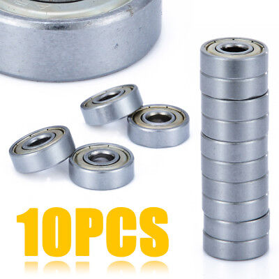 10x 608ZZ Mini Steel Double Shielded Flanged Ball Bearing For 3D Printer Parts