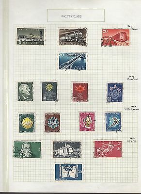 SWITZERLAND 1947-48 Collection FINE USED on Page  Stamps removed for Ship