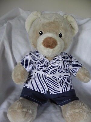 Print shirt and shorts set to fit 15 inch Pumpkin Patch teddy boys build a bear