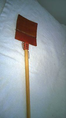 hand made leather fly swats
